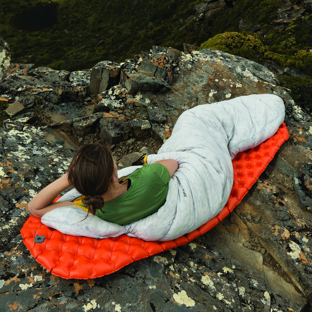 sea to summit ultralight insultated sleeping mat in use