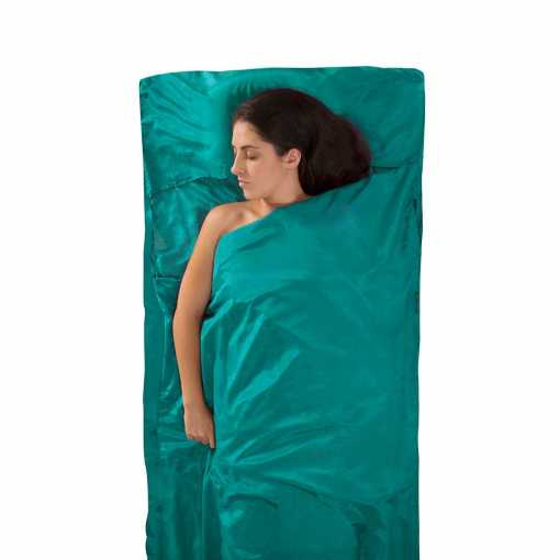 Sea to Summit ASLKCTNYHASF SilkCottonLiner Traveller SeaFoam 01